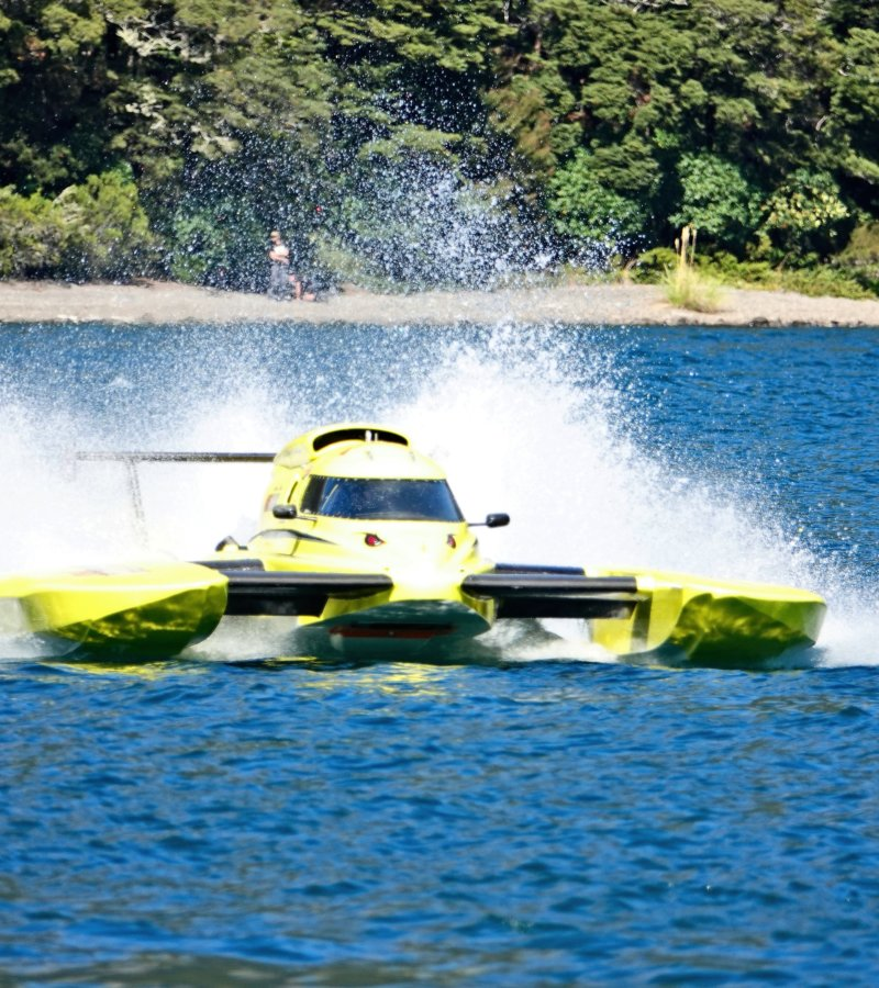 Racing on Lake Rotoiti